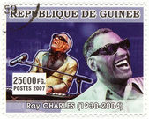 Stamp show Ray Charles — Stock Photo