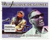 Stamp show Ray Charles — Stock Photo