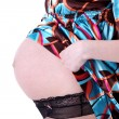 Expectant mother 40 weeks - Foto Stock