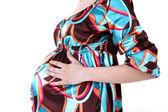 40 週間の妊娠中の母親 — ストック写真
