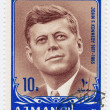 Stamp shows John F Kennedy — Stock Photo