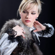 Girl with fur — Stock Photo #2583447