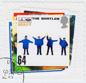 Stamp with The Beatles — Stock Photo