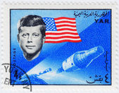 Stamp show John F Kennedy — Stock Photo