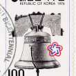 Stamp with liberty bell — Stock Photo