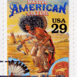 Stock Photo: Stamp shows Native Americculture