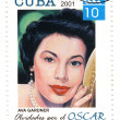 Stamp with american actress Ava Gardner — Stock Photo #2623955
