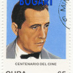 Stamp with actor Humphrey Bogart — Stock Photo #2624055