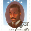 Stock Photo: Stamp with actor Eddie Murphy