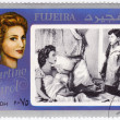 Stock Photo: Stamp with Martine Carol