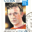 Stock Photo: Stamp with actor richard burton