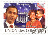 Stamp with Barack Obama — Stock Photo