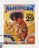 Stamp shows Native American culture — Stock Photo
