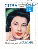 Stamp with american actress Ava Gardner — Stok fotoğraf