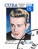 Vintage stamp with actor James Dean — Stock Photo
