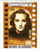 Stamp with Marlene Dietrich — Stock Photo