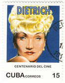 Stamp with Marlene Dietrich — Foto Stock