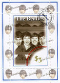 Stamp with famous group of The Beatles — Stock Photo