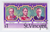 Stamp with UK Kings — Stock Photo