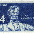 UNITED STATES OF AMERICA - CIRCA 1958: A stamp printed in the USA shows Statue of a seated Lincoln by Daniel Chester French, circa 1958 — Stock Photo #2686172