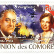 Union de Comores stamp with Franklin and Eleanor Roosevelts, 2008 - Stock Photo