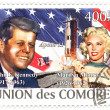 A vintage stamps with 35th president of USA  - John Fitzgerald Kennedy - Stock Photo