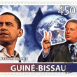 Stamp with 45th president of USA - Barack Obama — Stock Photo
