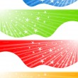 Vector abstract banners with stars — Stock Vector