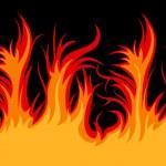 Vector fire — Stock Vector