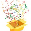 Royalty-Free Stock Vector: Vector box with notes