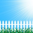 Vector background with fence — Stock Vector #1024505