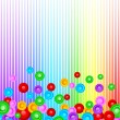 Stock Vector: Vector colorful background with circle