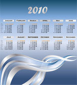 Modern calendar for 2010 — Stock Vector