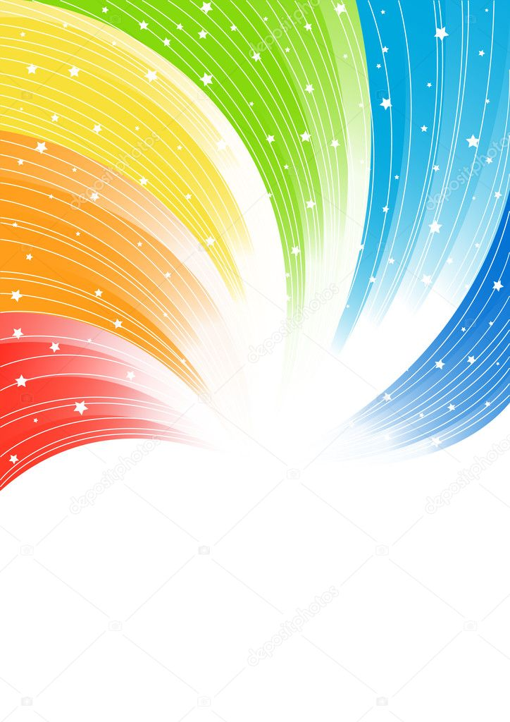 Vector abstract colorful background; clip-art — Stock Vector #1024352