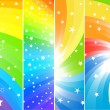 Vector coloridos carteles — Vector de stock  #1031730