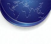 Banner luminoso vettoriale con mappa del mondo — Vettoriale Stock
