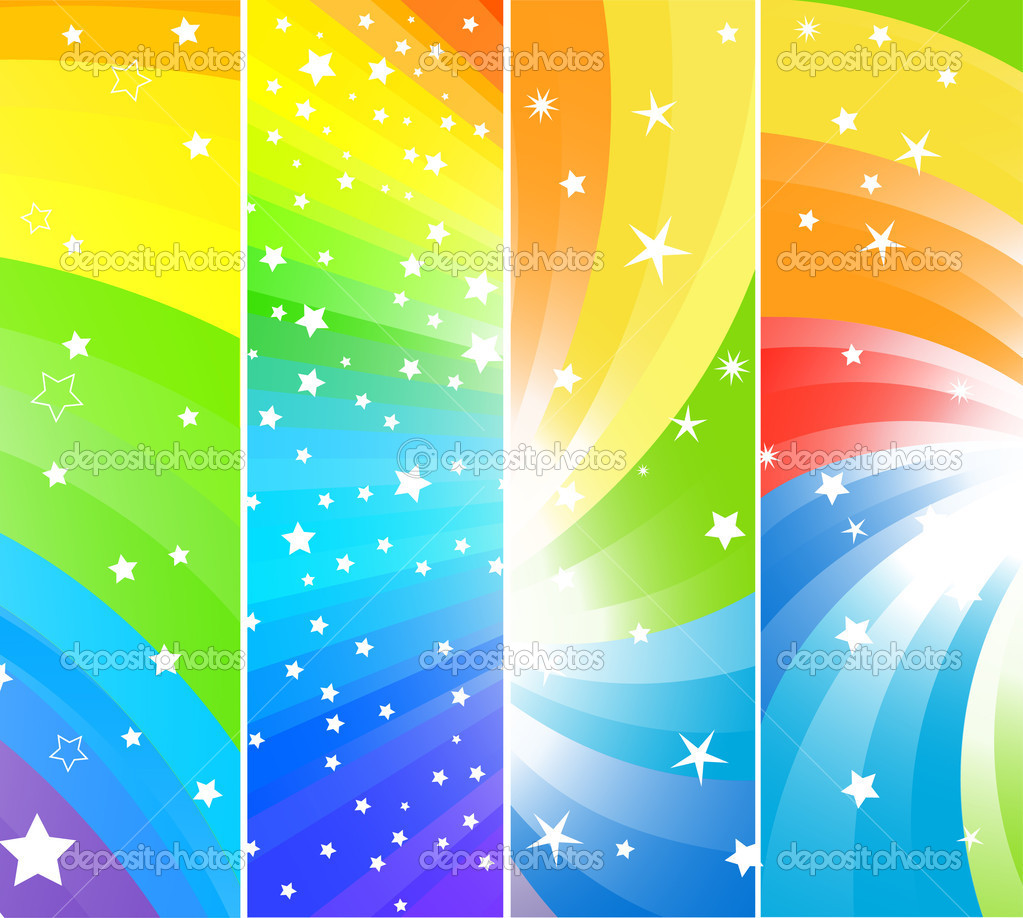 Vector colorful banners; clip-art — Stock Vector #1031730