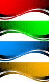 向量组的抽象横幅 — 图库矢量图片