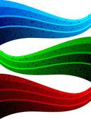 векторный набор трех абстрактных баннеров — Cтоковый вектор