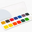 Stock Photo: Water colour paints