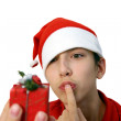 Royalty-Free Stock Photo: Christmas teen.