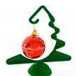 New-year ball and fir-tree — Stock Photo
