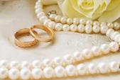 Kroužky na svatbu — Stock fotografie