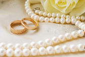 Rings to wedding — Stock Photo
