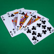 Clubs Royal Flush — Stock Photo