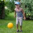 Stock Photo: The boy with a ball.