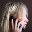 The girl with phone — Stock Photo #1032863