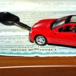 Stock Photo: Insurance of car.