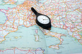 Curvimeter on the map — Stock Photo