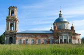 Dilapidated church in Moscow suburbs. — Stock Photo